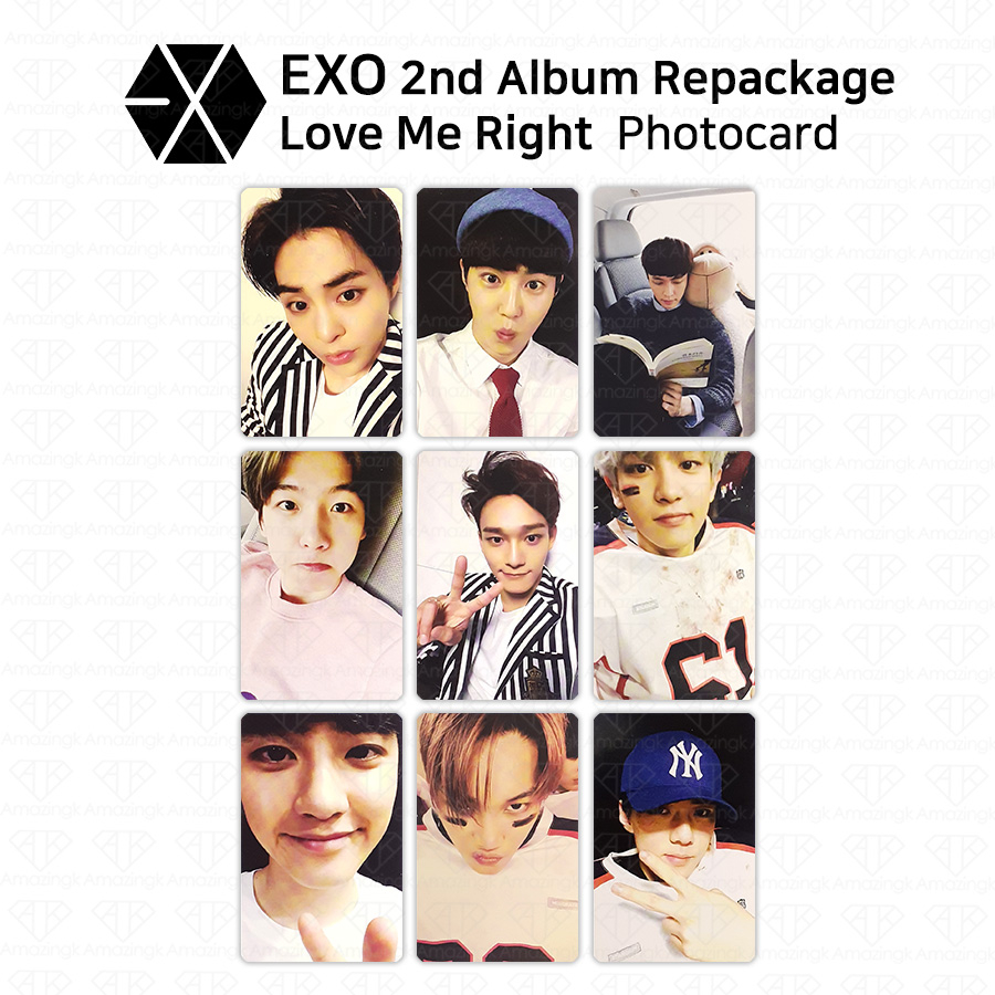exo 2nd album repackage love me right photocard all