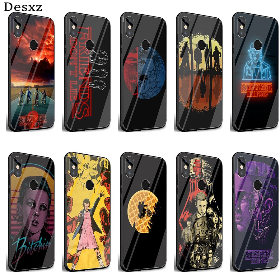 Gerleek Glass Stranger Things wallpaper Coque Case Cover for Xiaomi Mi 8 Lite 9 A1 A2