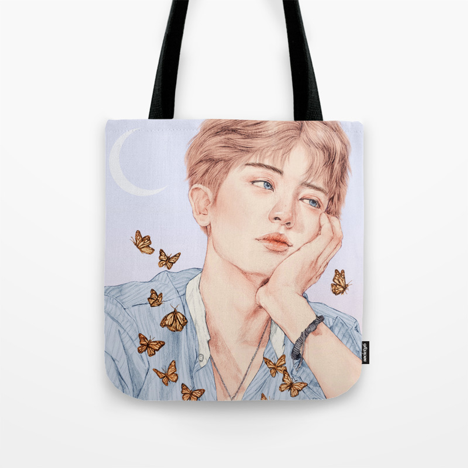 butterfly boy chanyeol exo bag
