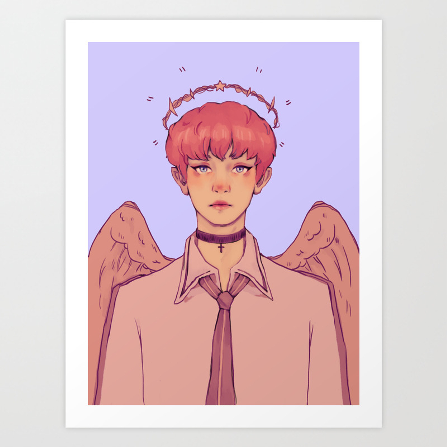 angel chanyeol exo print