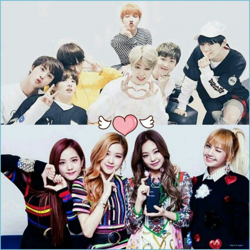 bts and blackpink wallpapers top free bts and blackpink blackpink bts wallpaper 1024x1024
