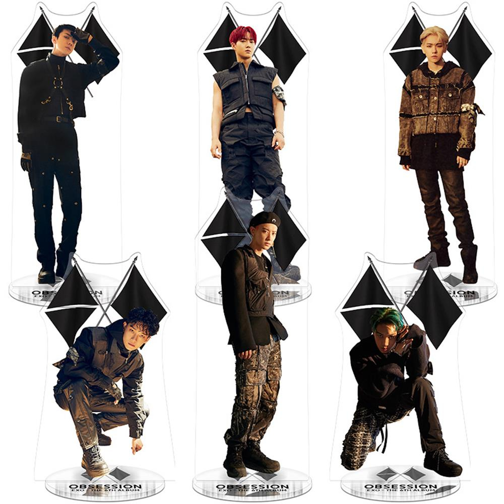 EXO Members Kai Chen Obsession Acrylic Figure Doll Sehun Chanyeol Standee Action Table Decor