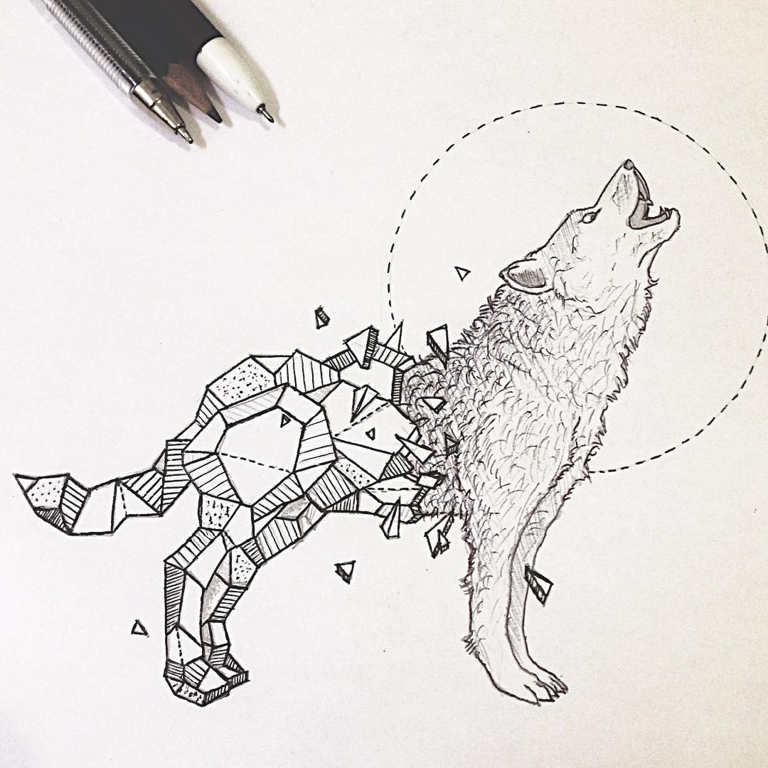 iiwhRTm drawing ideas wallpapers amazing collection of wolf geometric