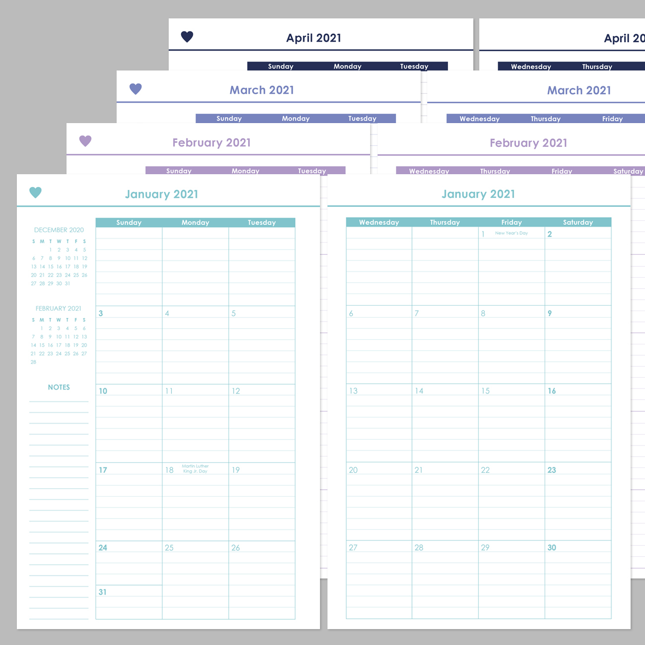 ashley shelly planner 2021 monthly spreads