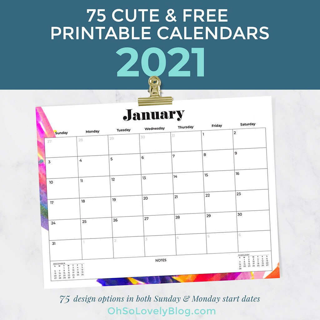 free 2021 calendars 75 beautiful designs to choose from