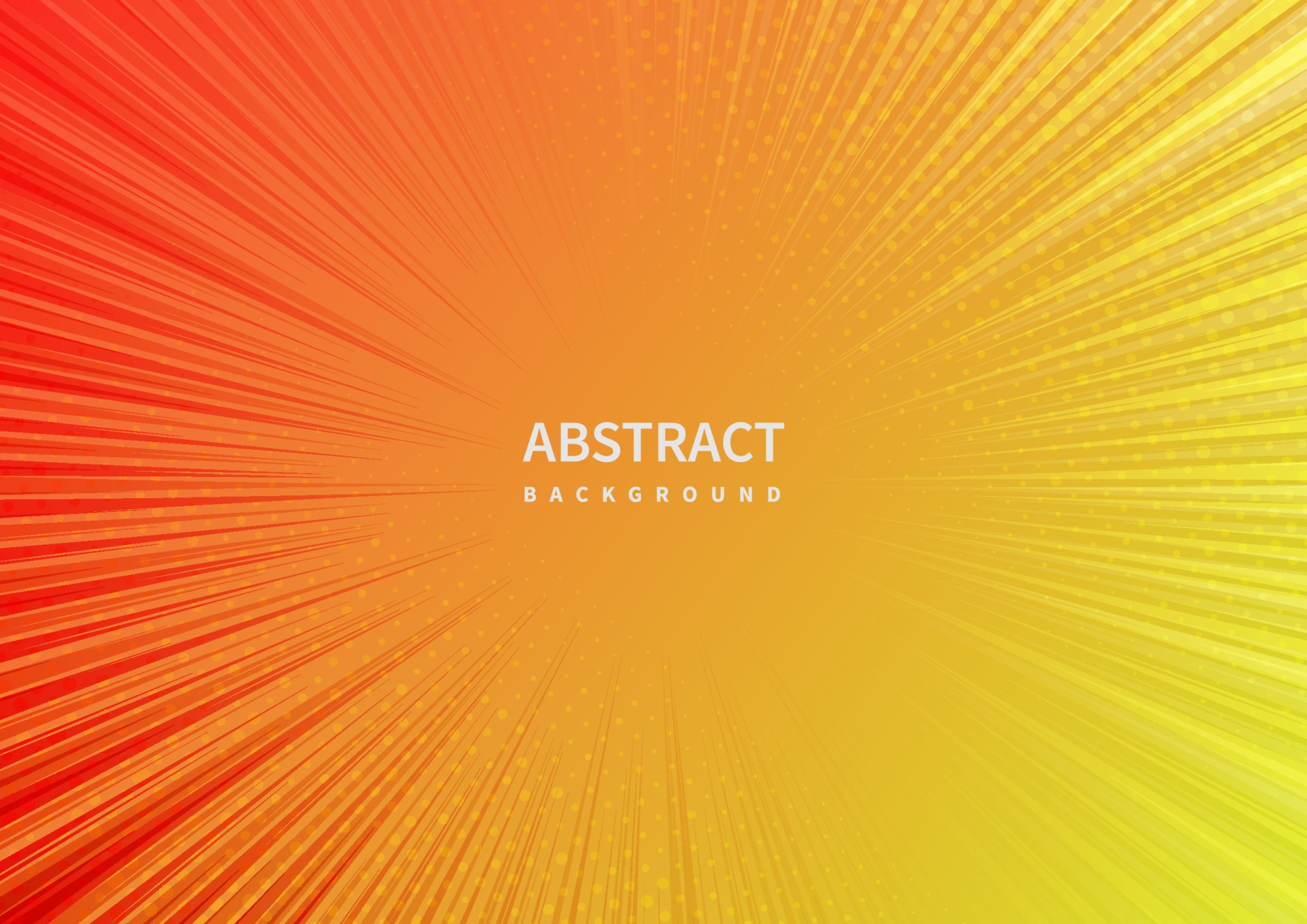 abstract zoom line on orange and yellow background free vector