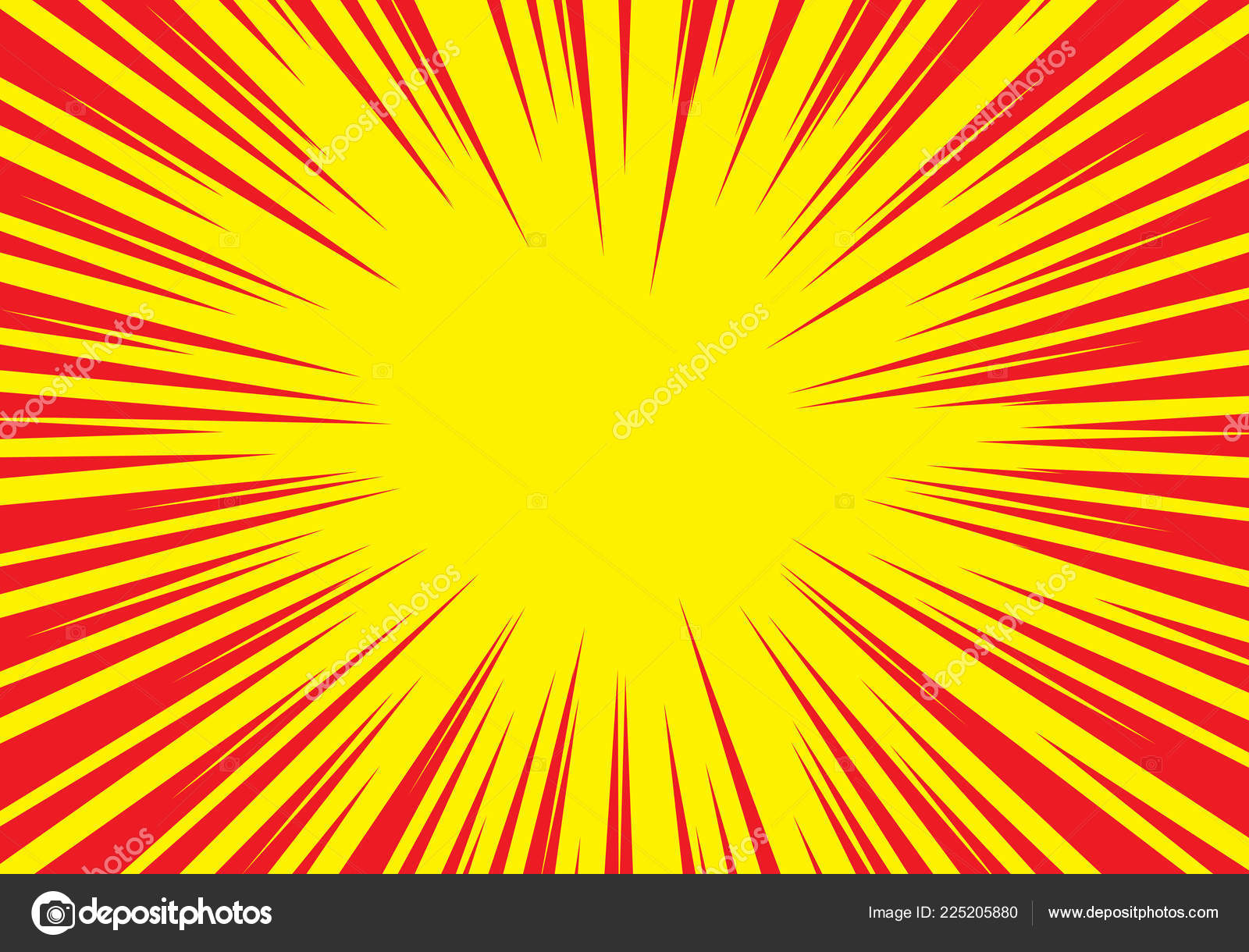 ic zoom lines Radial Zoom Speed Line Red Yellow ic