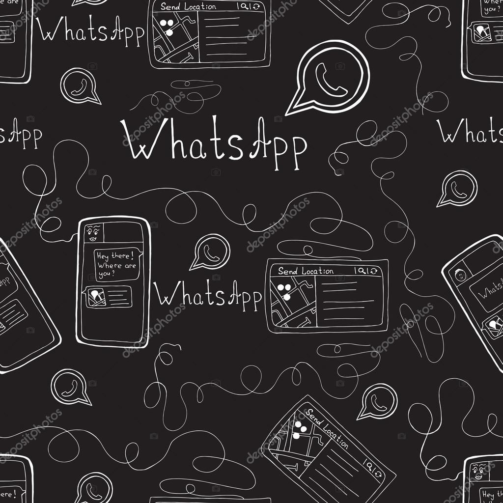 depositphotos stock illustration vector doodle seamless pattern with