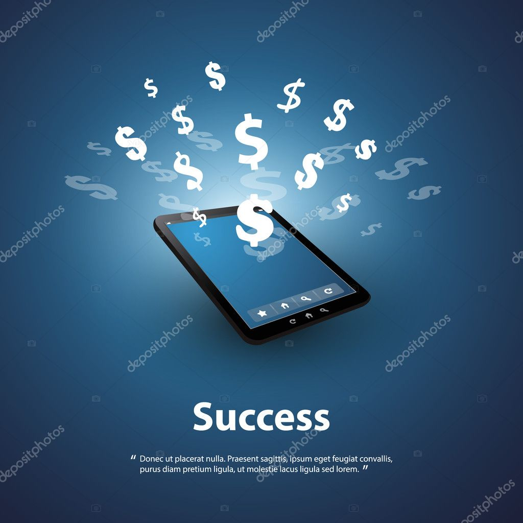 depositphotos stock illustration success and sell online