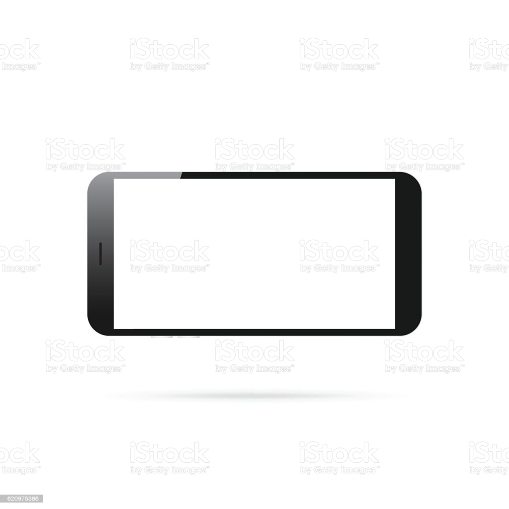horizontal smartphone isolated on white background mobile phone vector id