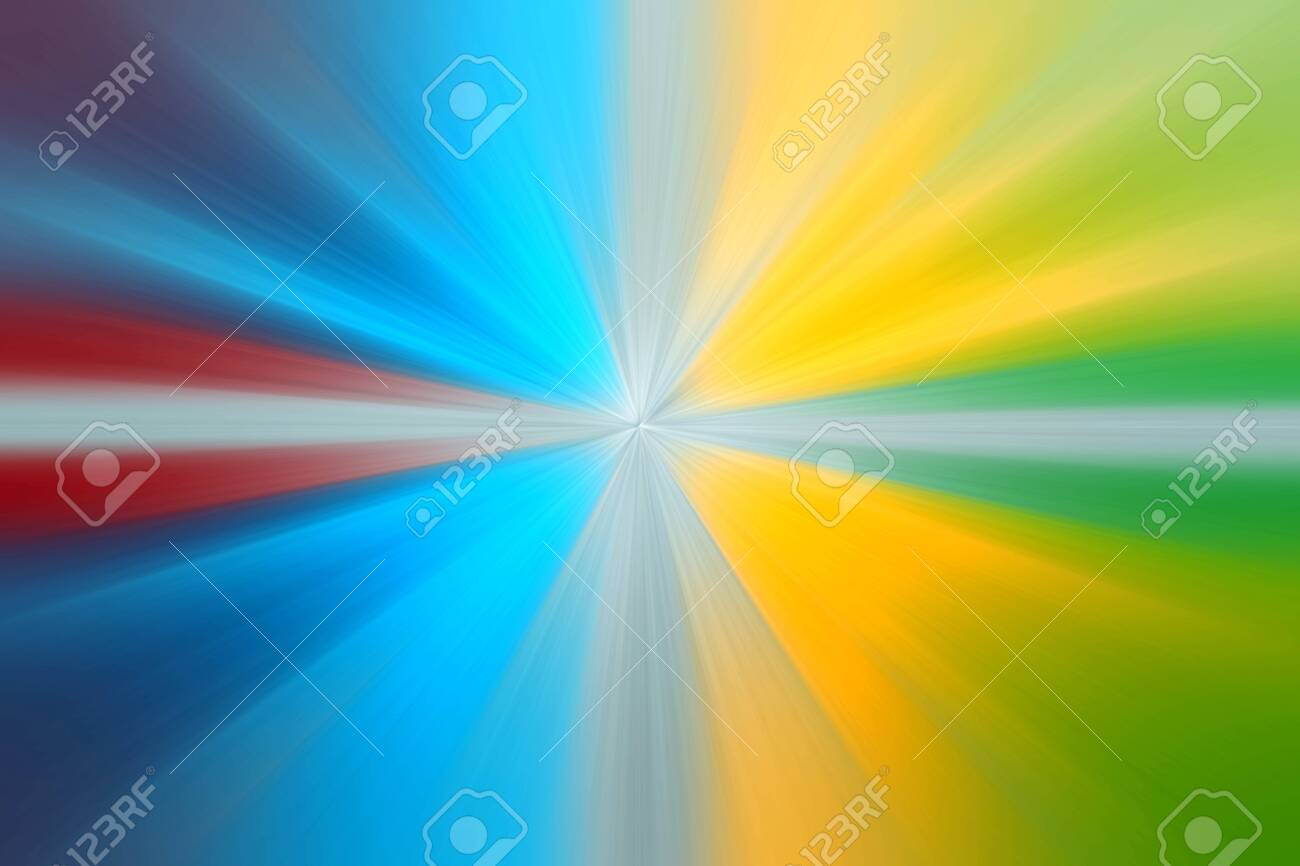 photo abstract radial zoom blur surface in yellow green blue and red tones abstract background with radial