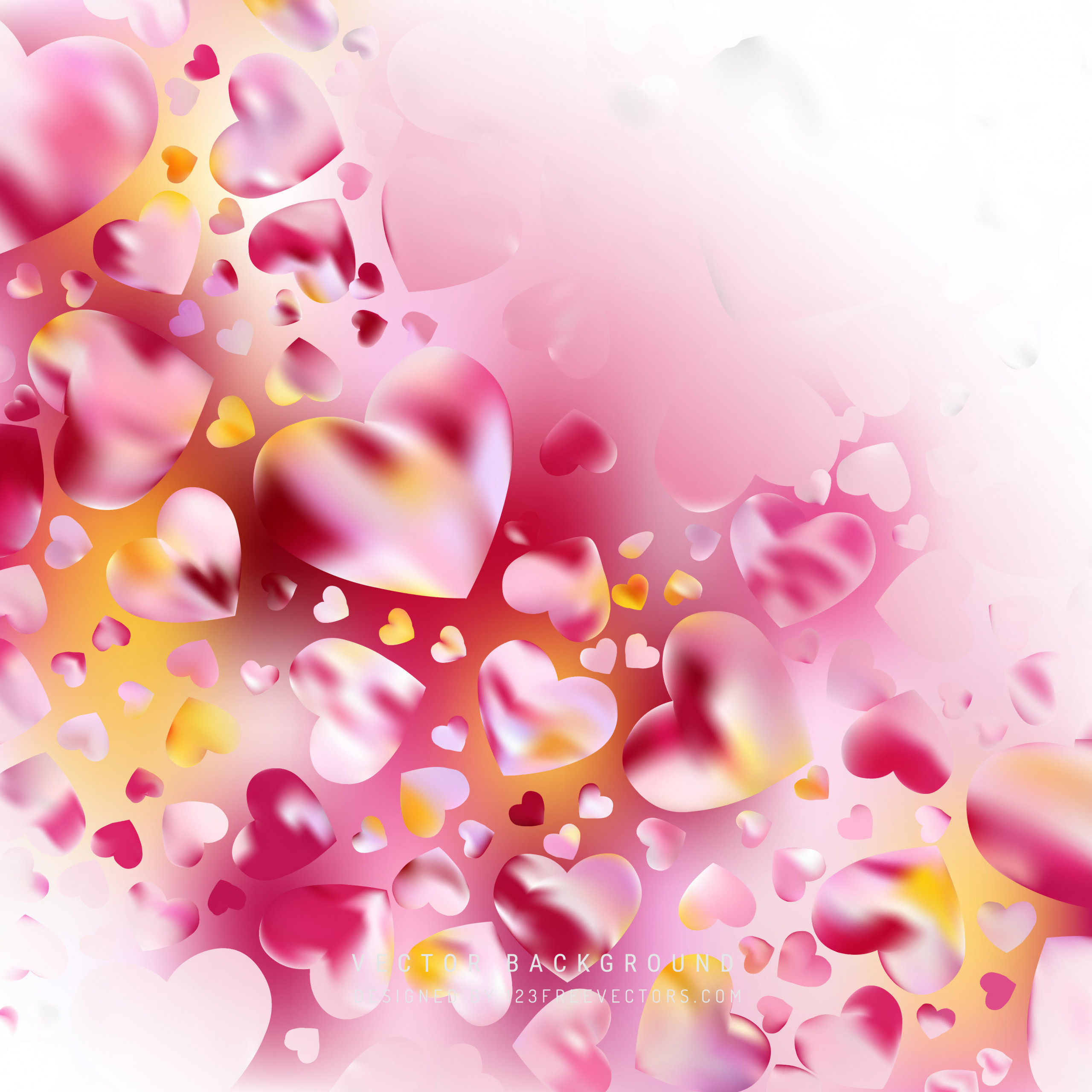 abstract valentines day pink heart background