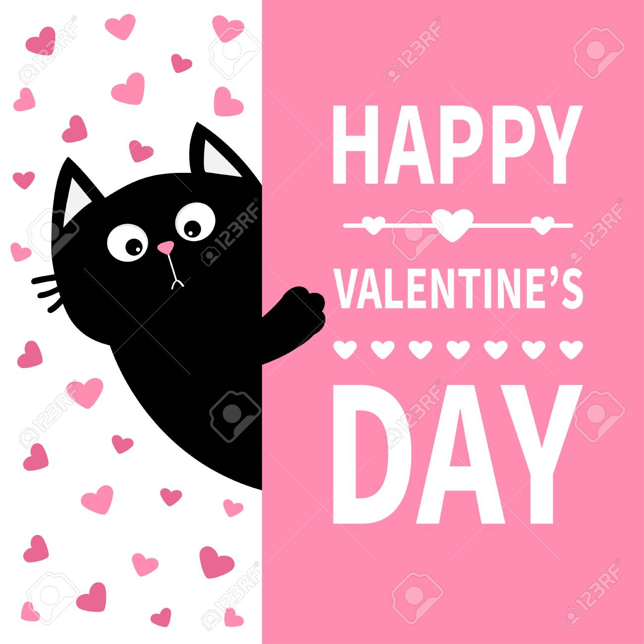 photo stock vector black cat holding signboard cute cartoon funny kitten kitty hiding behind paper happy valentines day
