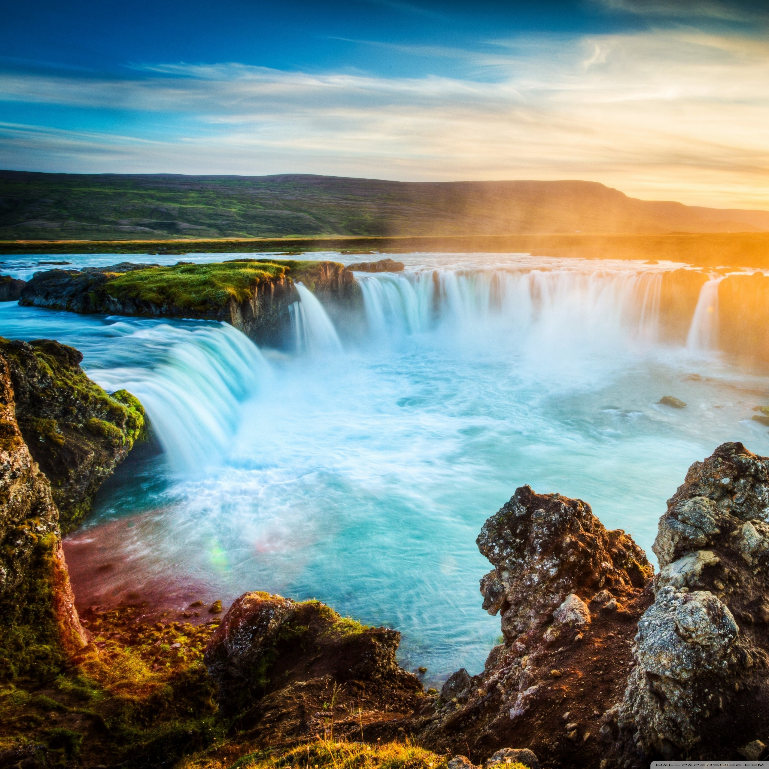 godafoss waterfall iceland wallpapers