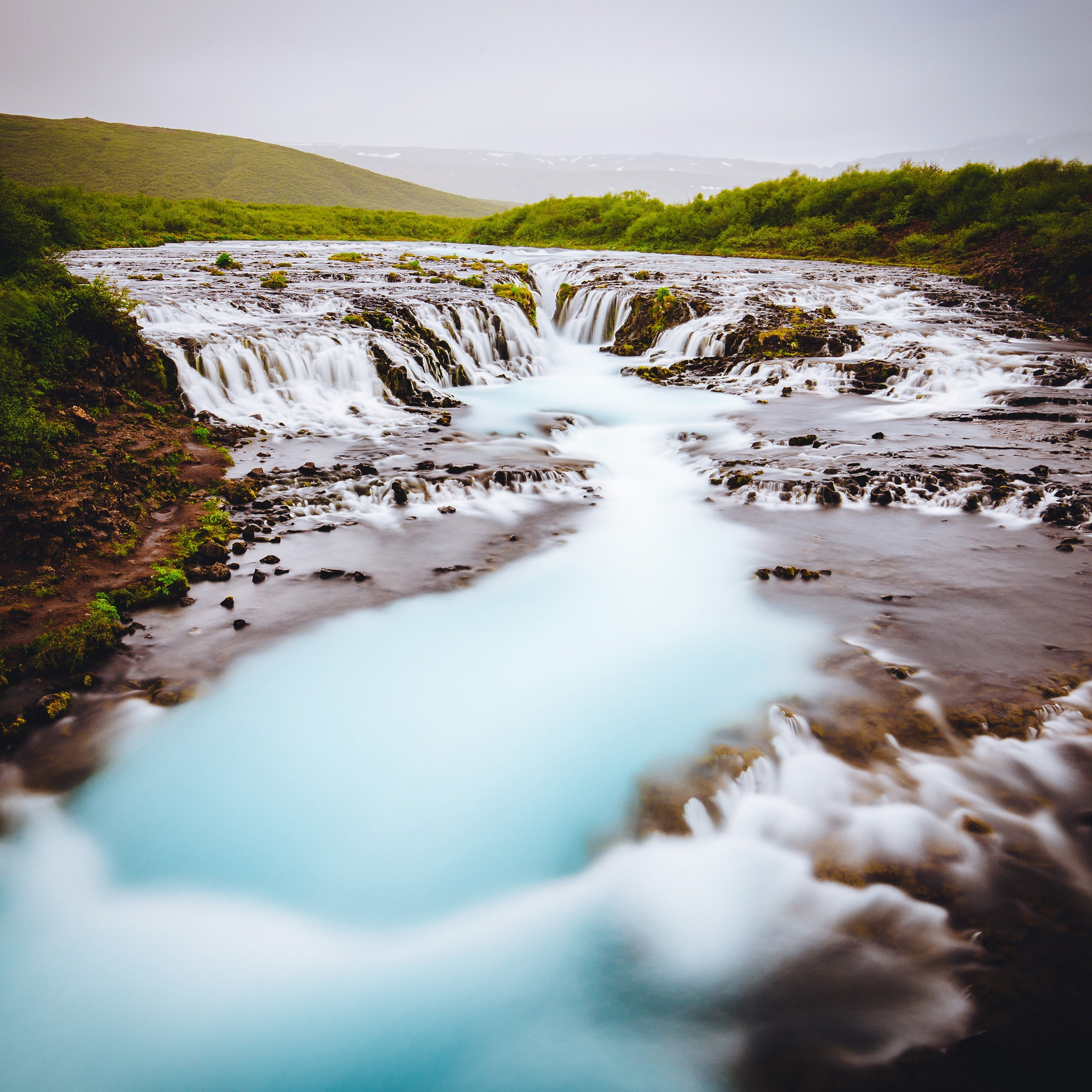 bruarfoss waterfall in iceland 4k 5k wallpapers