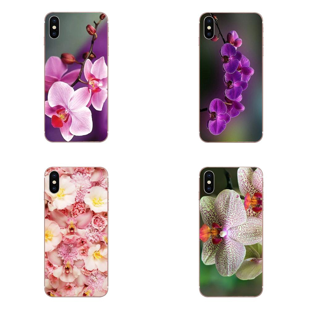 Orchid Flowers Hd Wallpaper Protective Silicone Cover Bag For Apple iPhone 11 Pro X XS Max XR 6 6S 7 8 Plus i