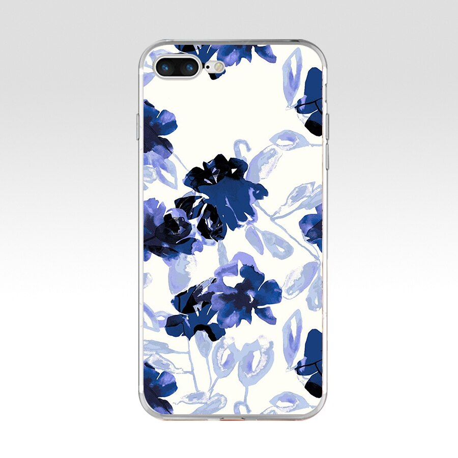 39AQ black and white flower wallpaper Soft TPU Silicone Cover Case For Apple iPhone 6 6s 960x960