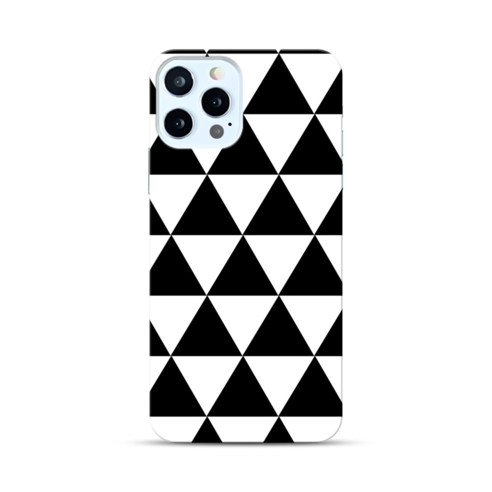 geometric pattern with triangles black and white modern background custom iphone 12 pro case