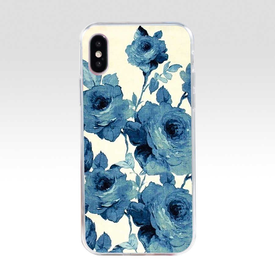 39AQ black and white flower wallpaper Soft Silicone Tpu Cover phone Case for iphone 5 5s q50