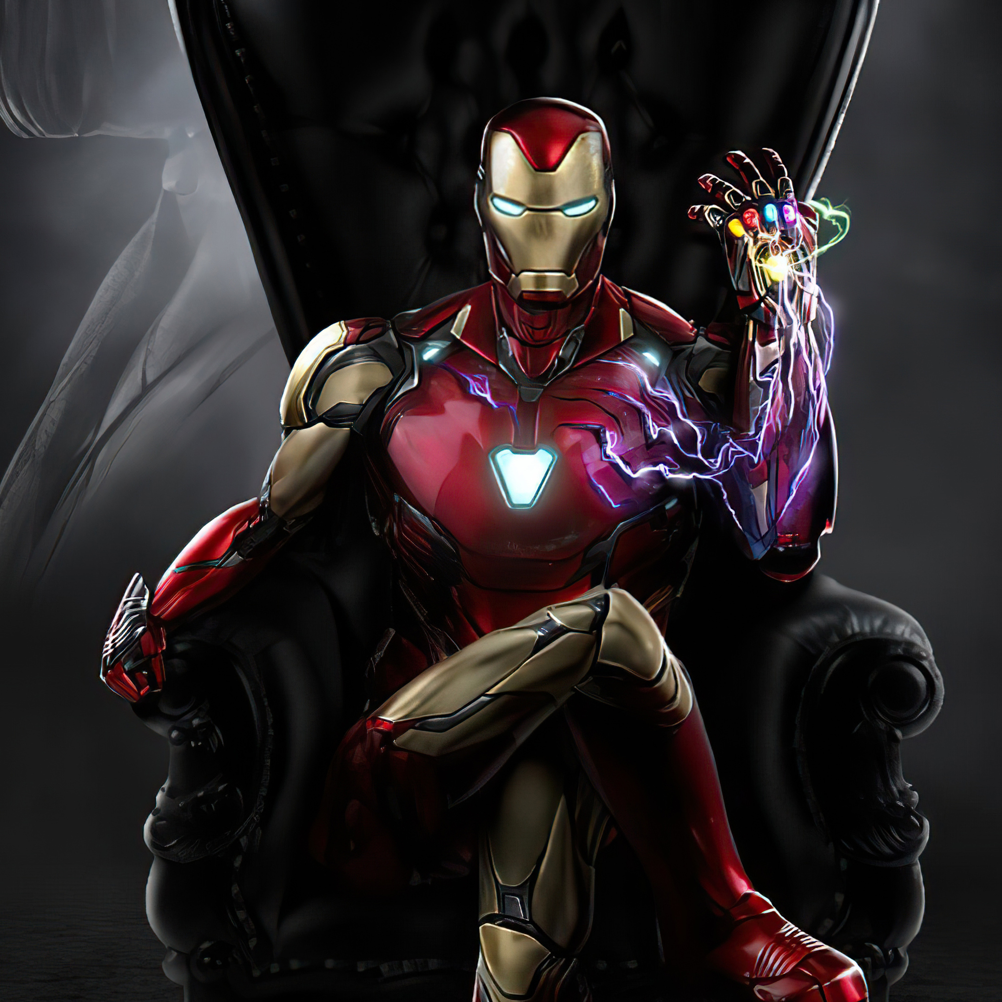 iron man sitting 4k