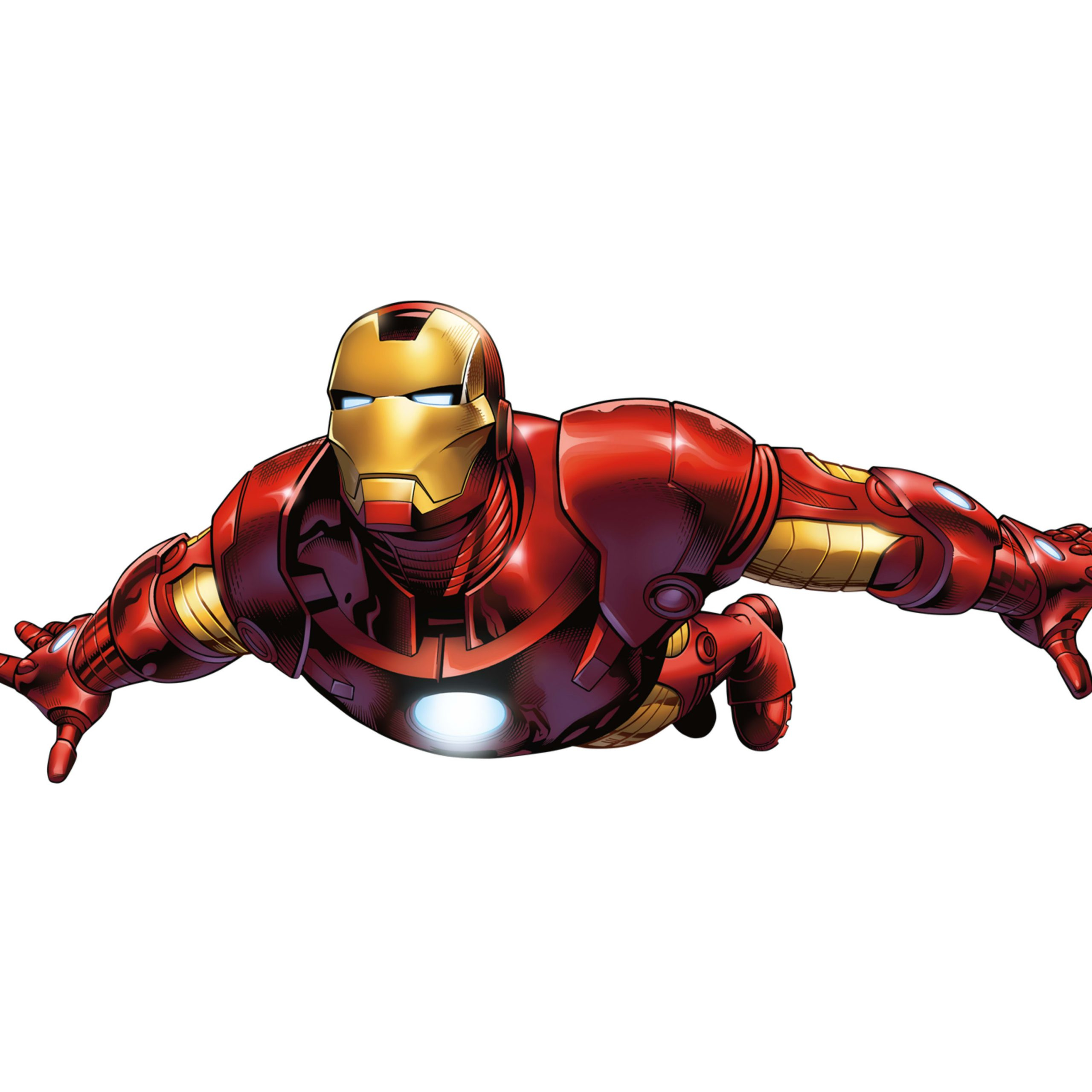 iron man wall light stickers canvas wallpaper