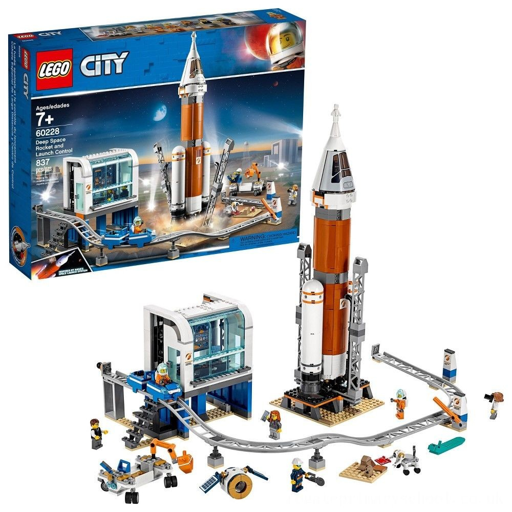 hot sale lego city space deep space rocket and launch control model rocket building kit with minifigures