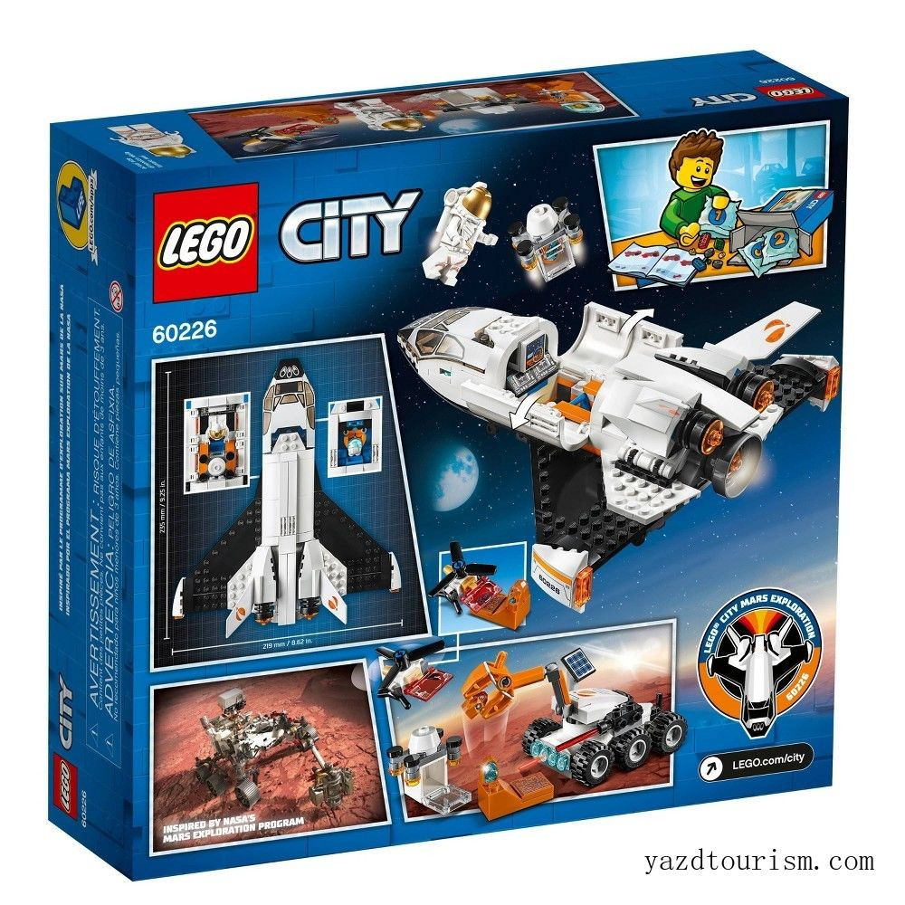 lego city space mars research shuttle space shuttle toy building kit with mars rover sale