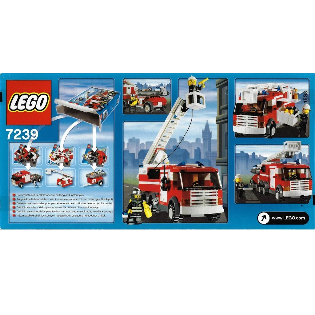 product info info=p4510 lego city 7239 fire truck