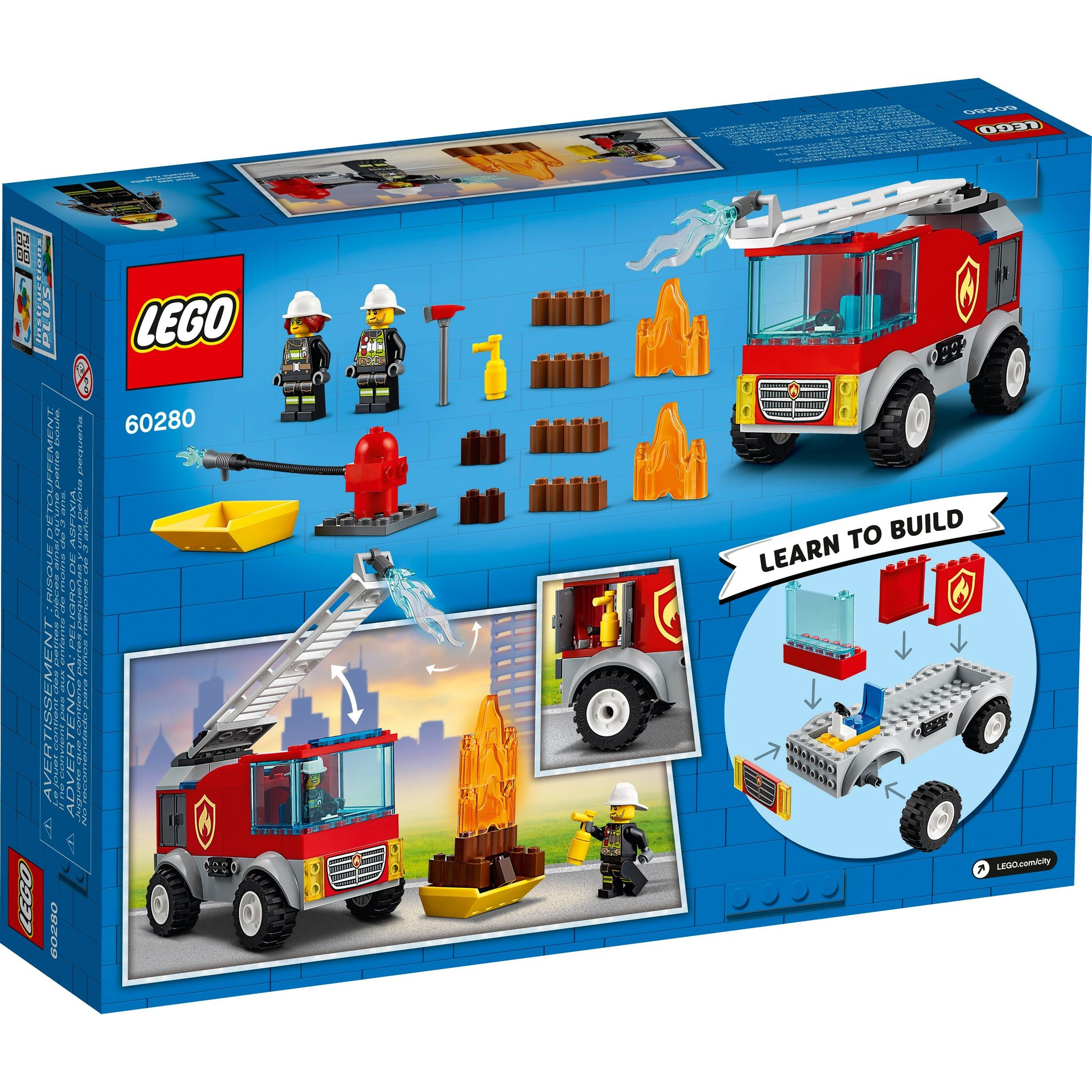 le lego city fire ladder truck