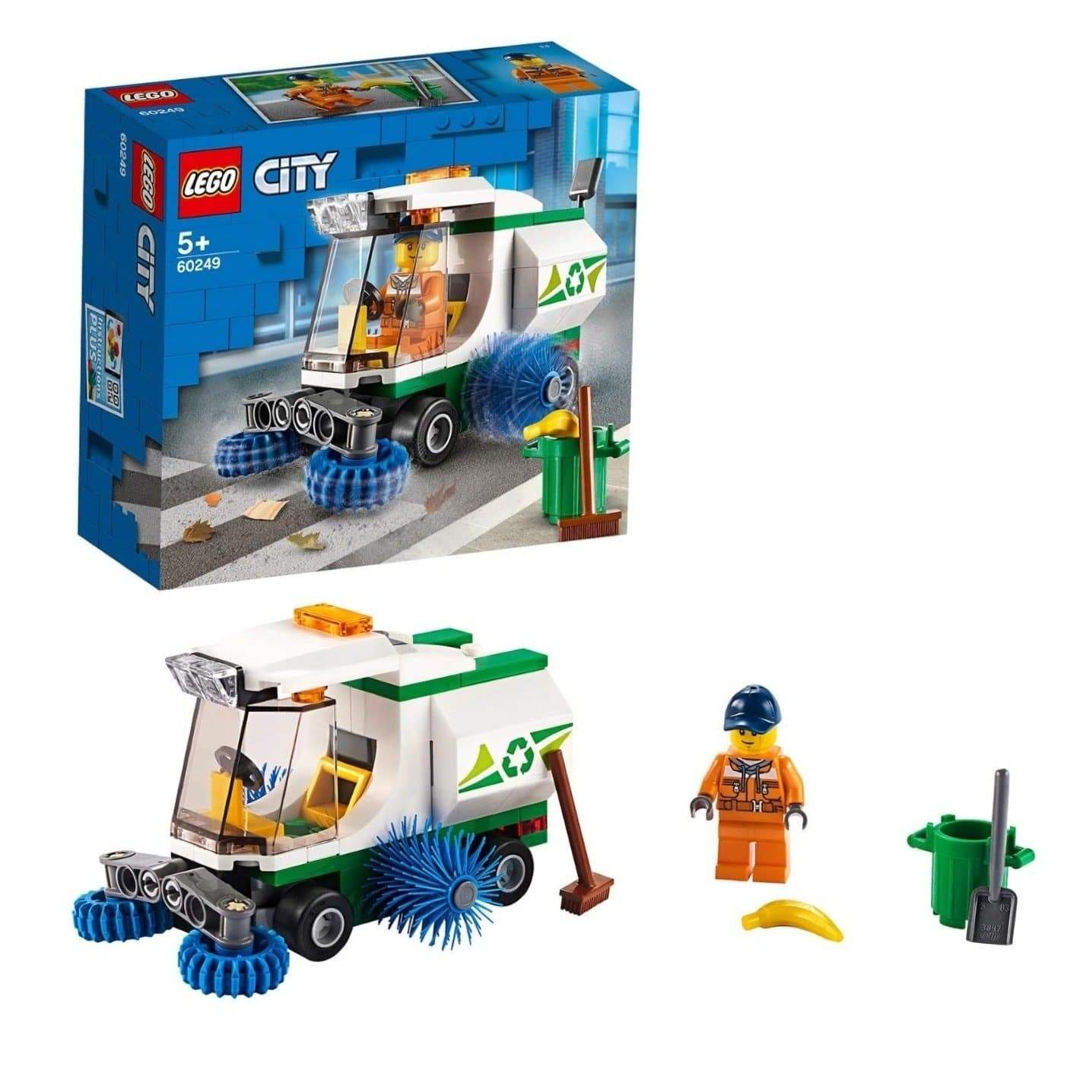 lego city great vehicles street sweeper garbage truck toy with driver car sets for kids 5 year old