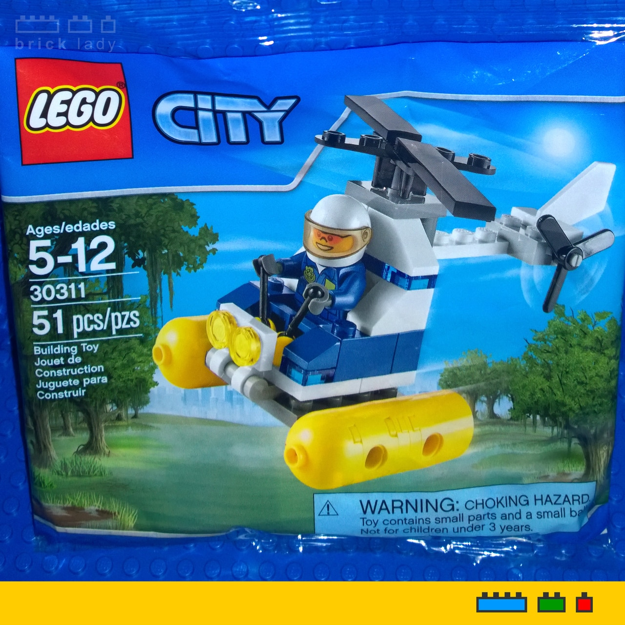 LEGO City Swamp Police Helicopter Brick Lady Adelaide Hills