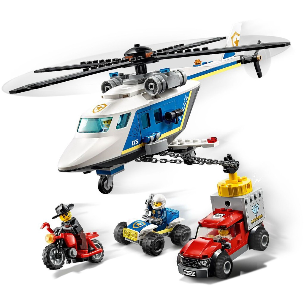 lego city police helicopter chase teagreen F 2007 01 Sale I