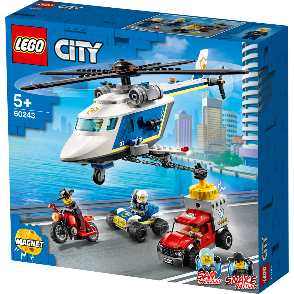 lego city police helicopter chase pack