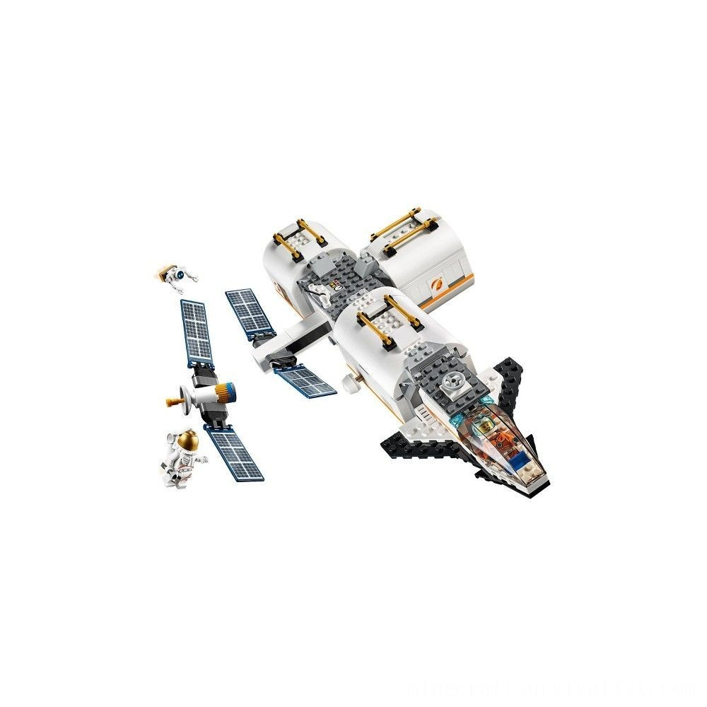 brand new lego city space lunar space station space station building set with toy shuttle