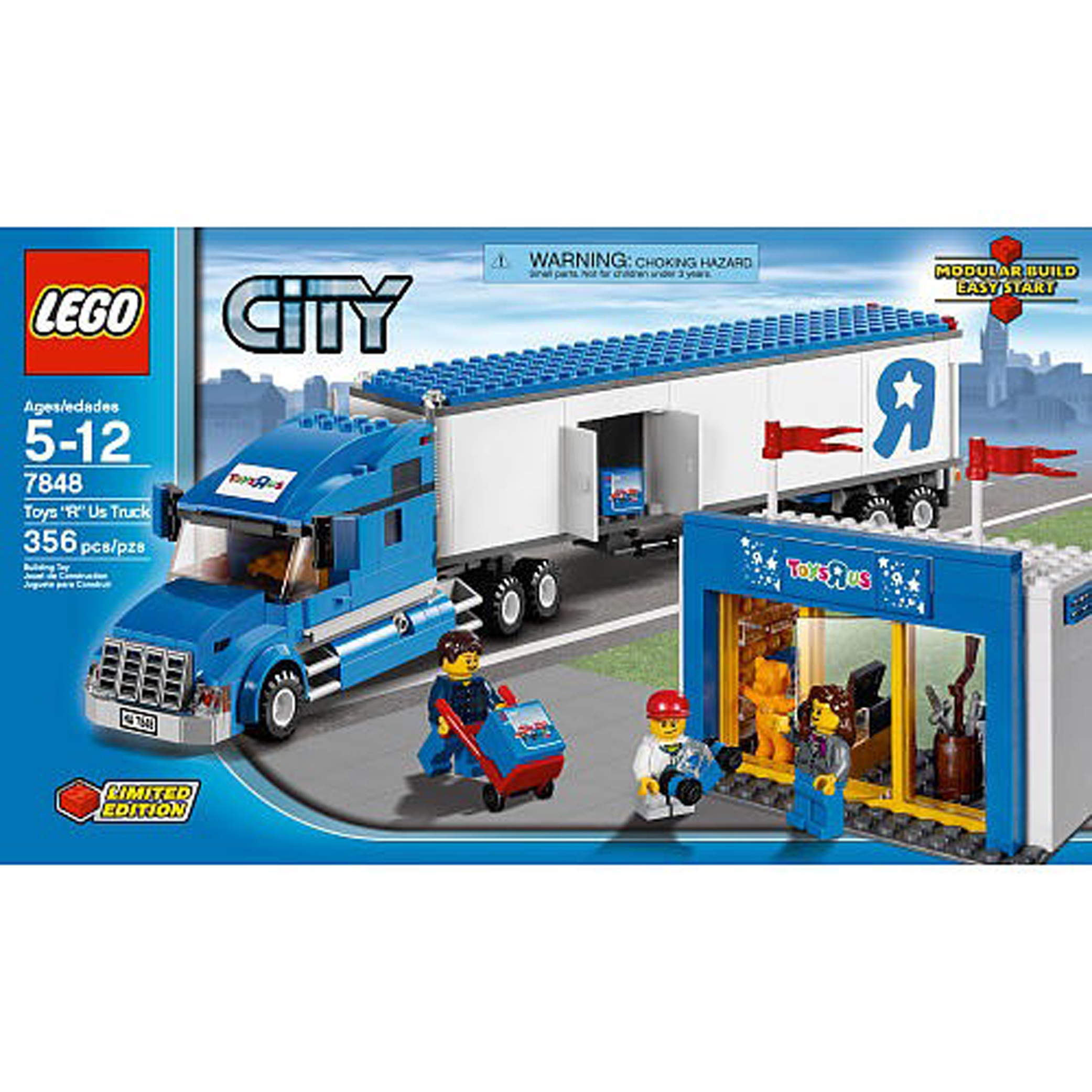 lego city toys r us truck 7848 review