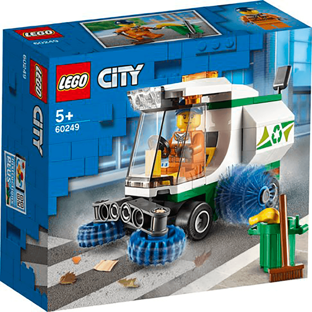 lego city great vehicles street sweeper garbage truck toy p2184