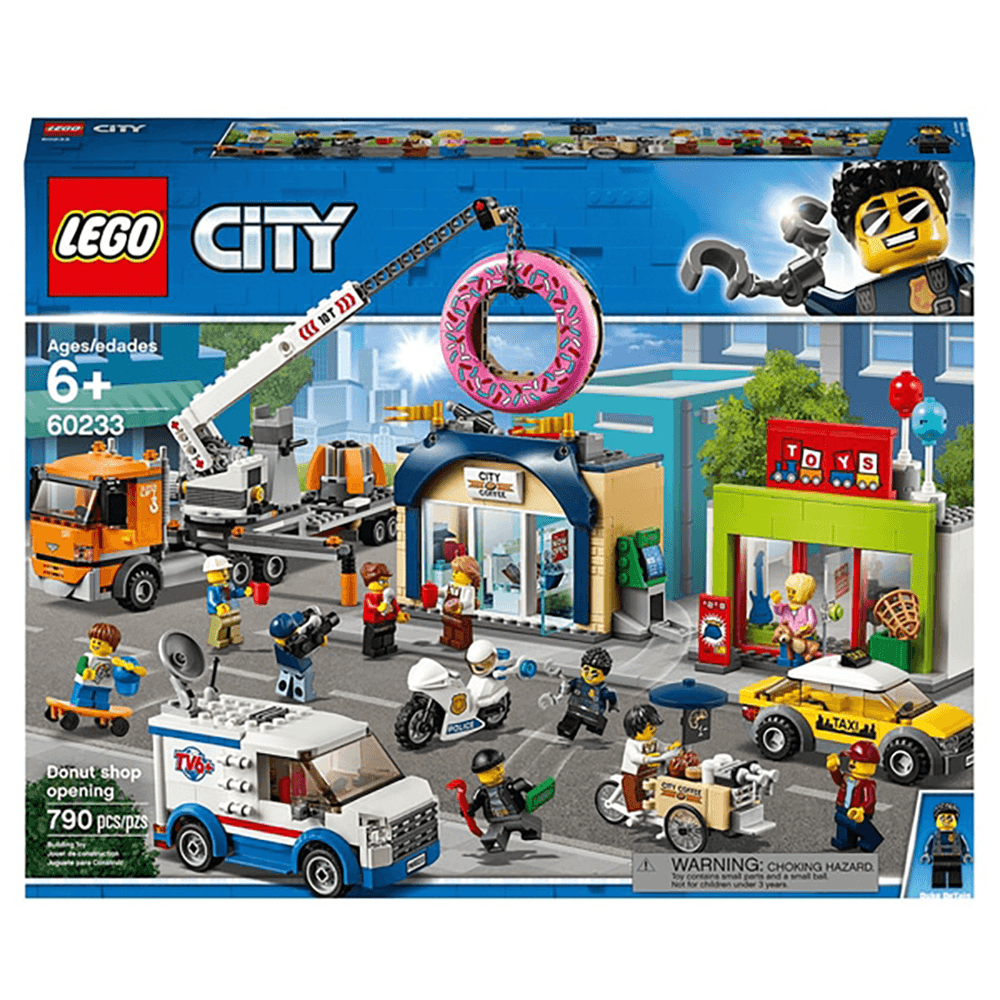 lego city town donut shop opening truck toy cars set p2198