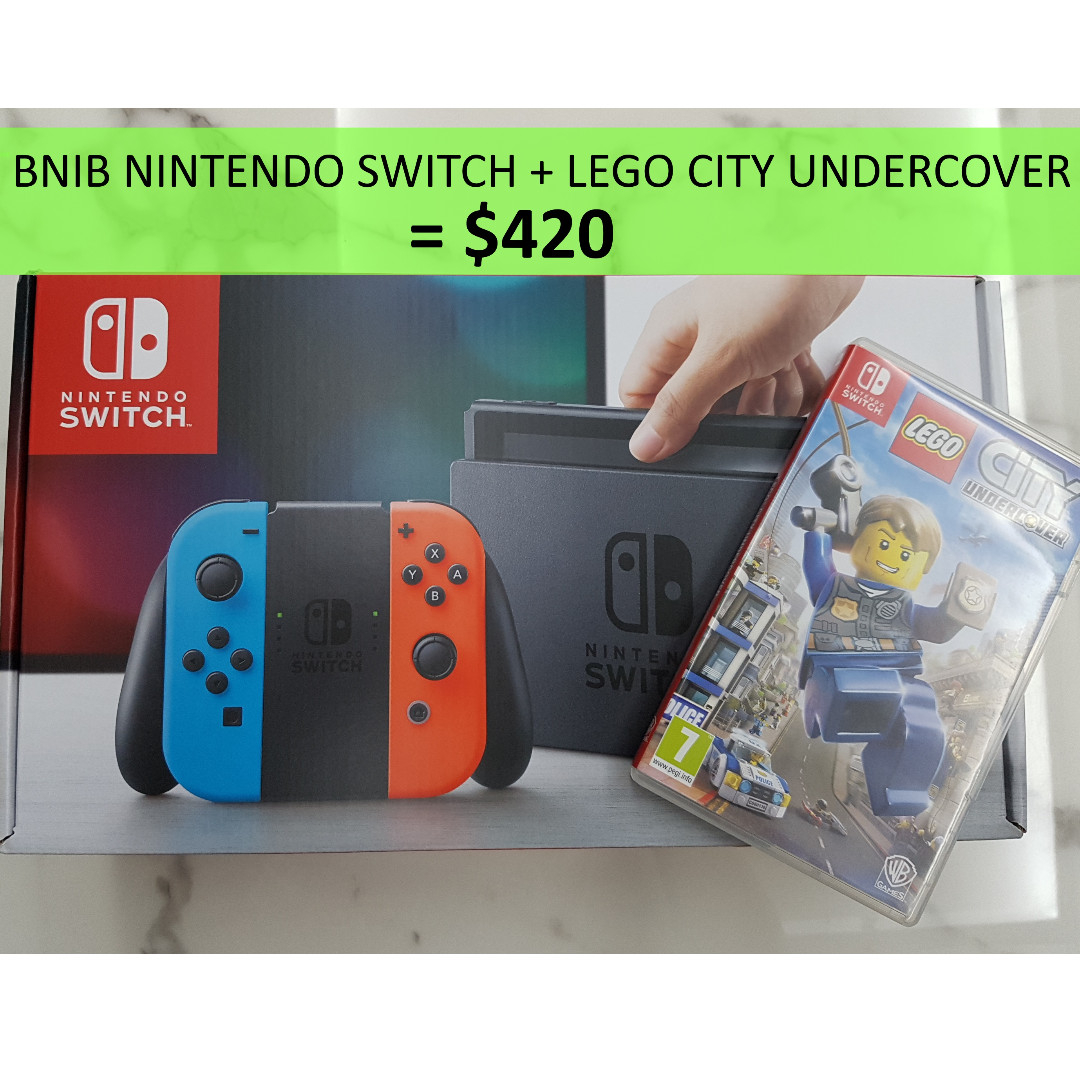 wts bnib neon nintendoswitch lego city undercover used 22ad