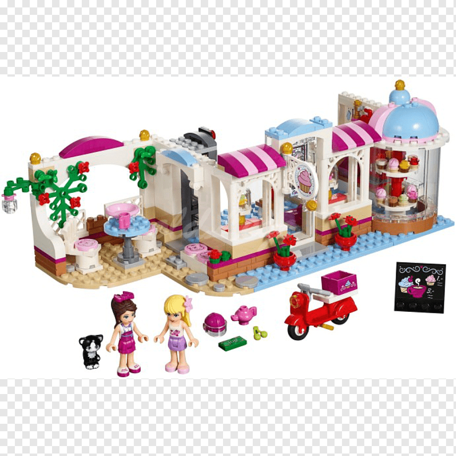 png transparent lego friends heartlake cupcake cafe lego friends toy baking cafe photography