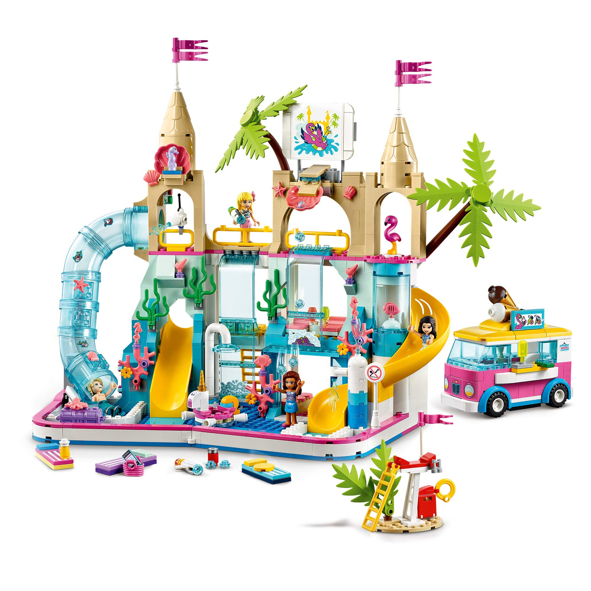 lego friends heartlake city resort holiday dolls house hotel with monorail and beach water park
