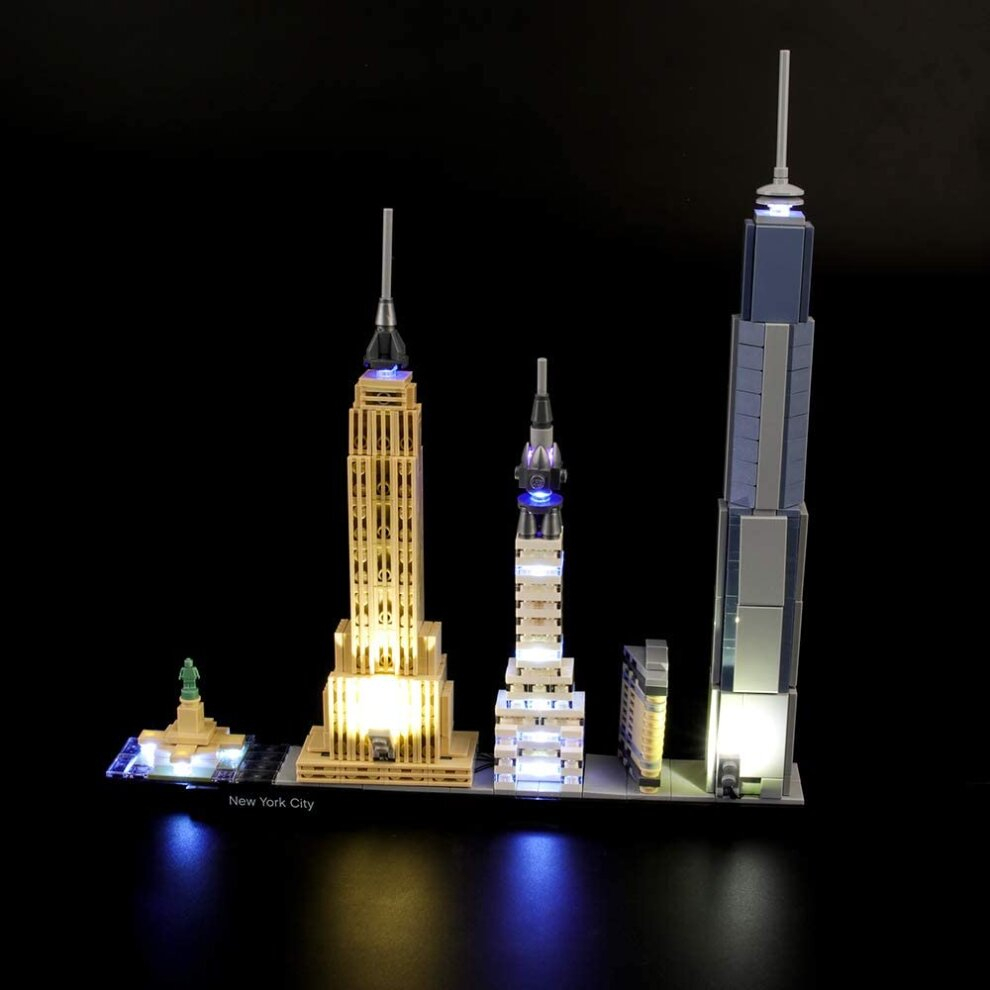 lightailing light set for architecture new york city building blocks model led light kit patible with lego not included the model c2296 p