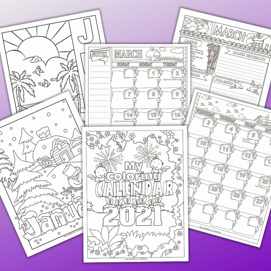 free printable nature themed planner for 2021 1