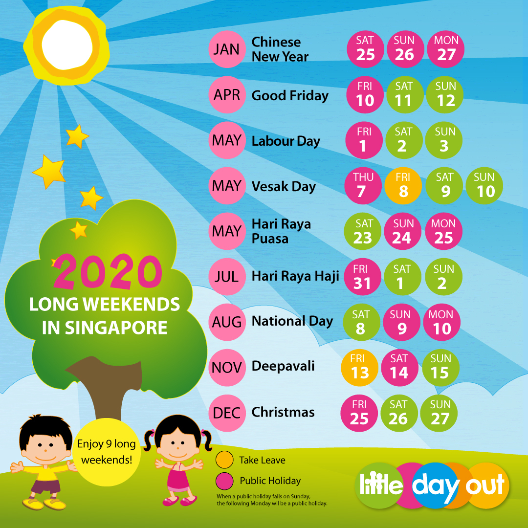 2020 LDO Long Weekends Infographic