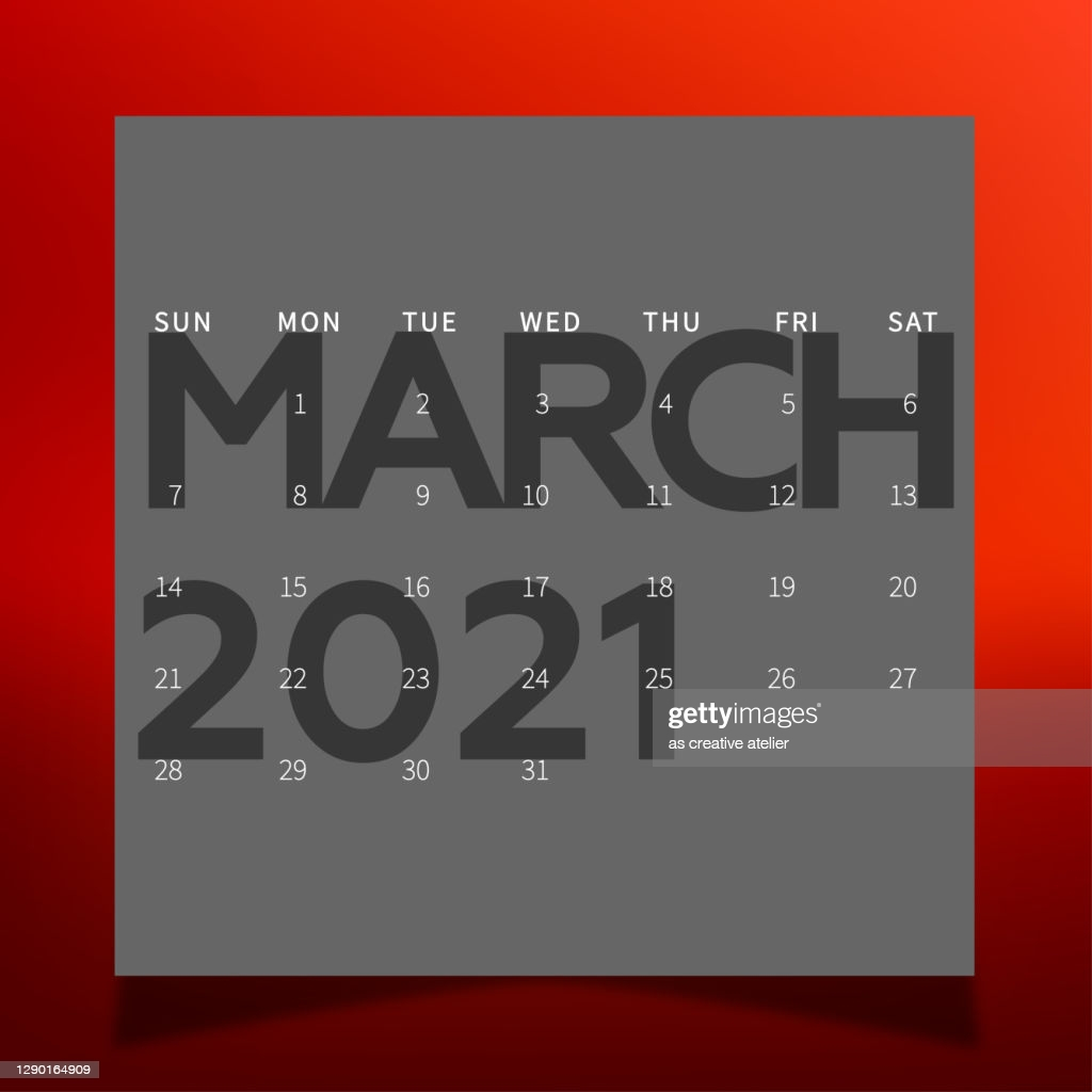 calendar march month wall calendar for 2021 year planner diary in a vector id