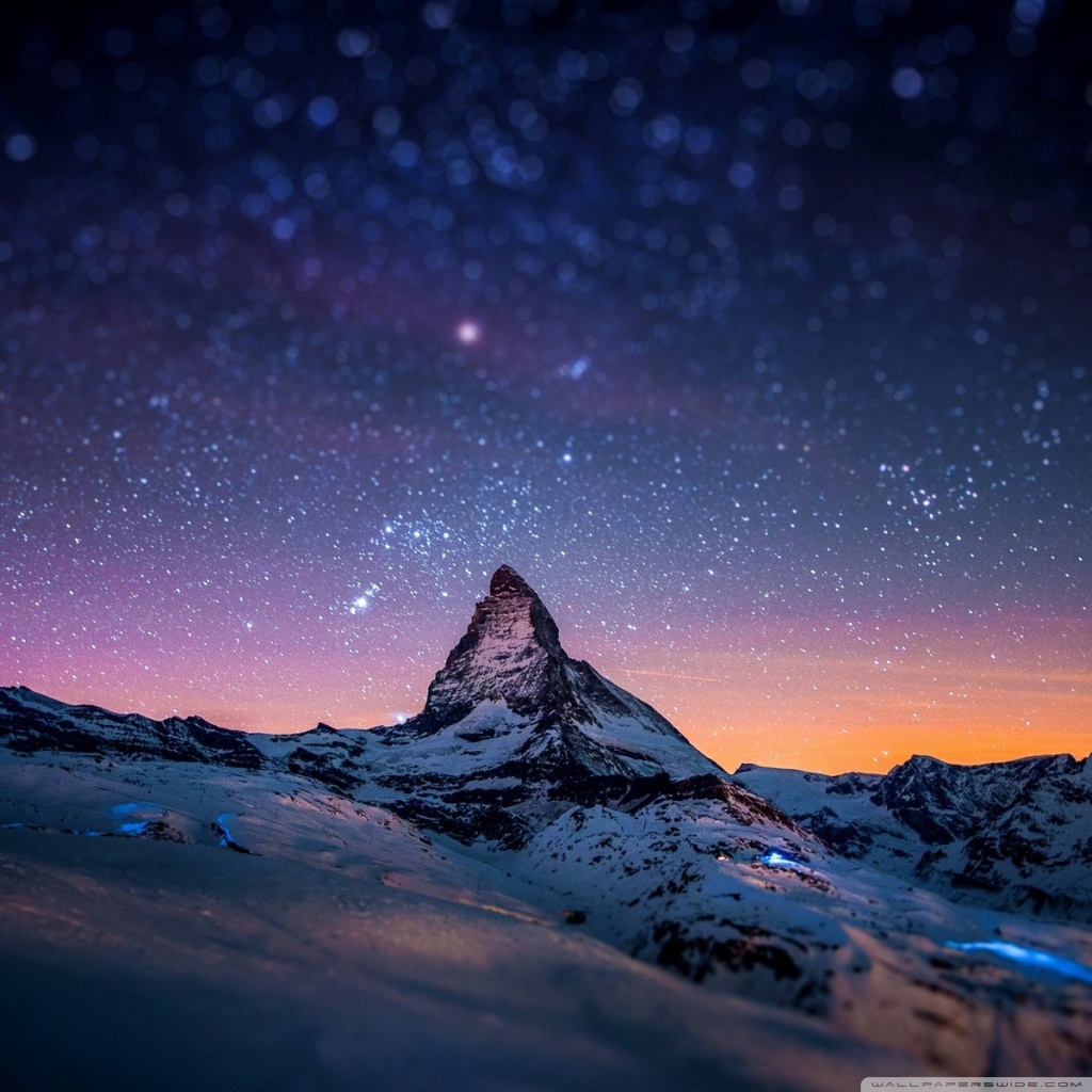 mountain at night wallpapers