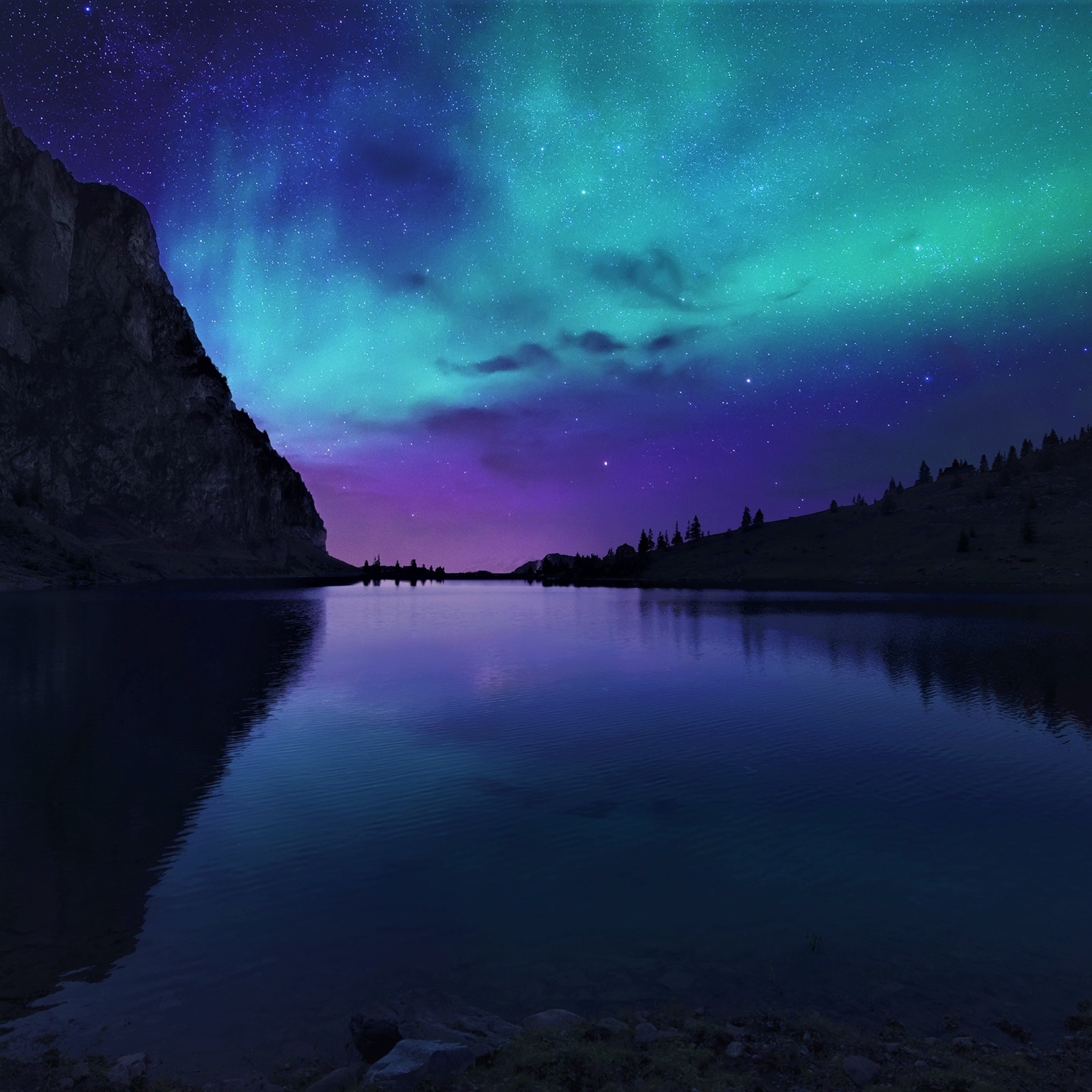 aurora borealis northern lights over mountain lake a2VtZ2yUmZqaraWkpJRnZWltrWdlaW0