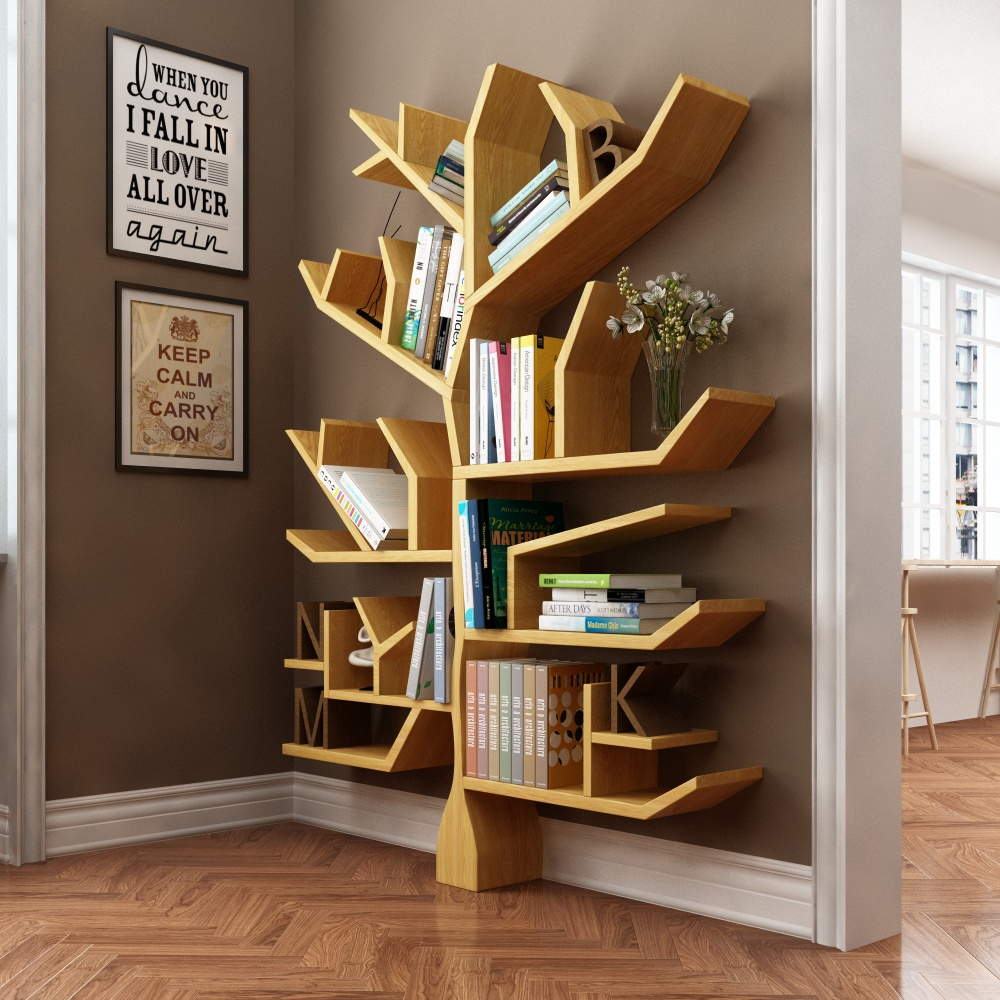 background wall office wall wall creative decoration shelf child book