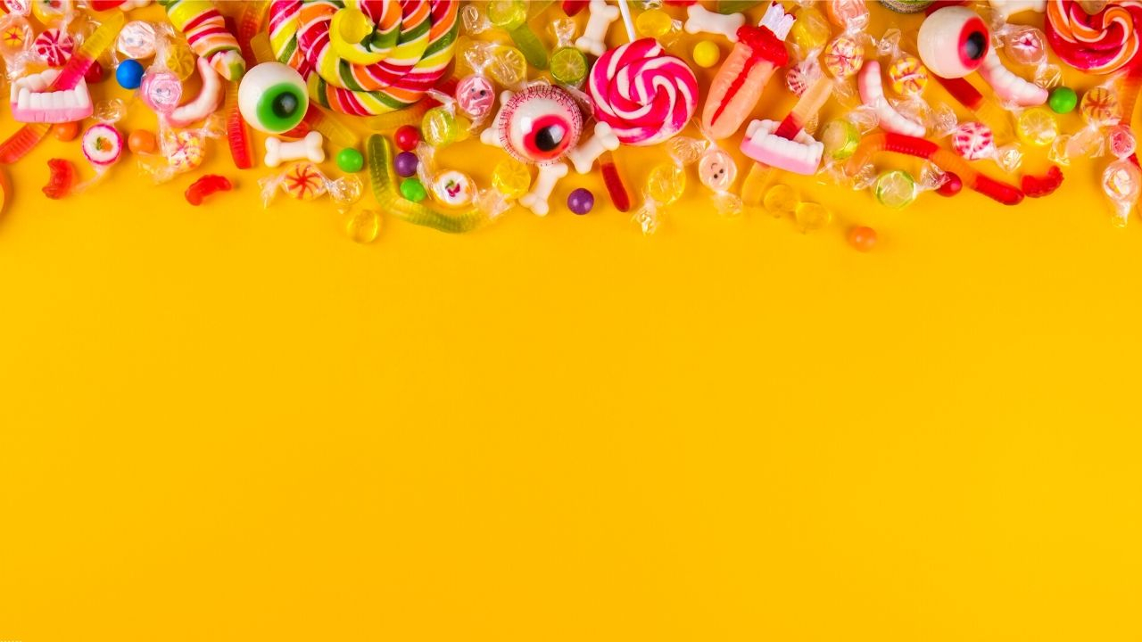 all the candy on yellow