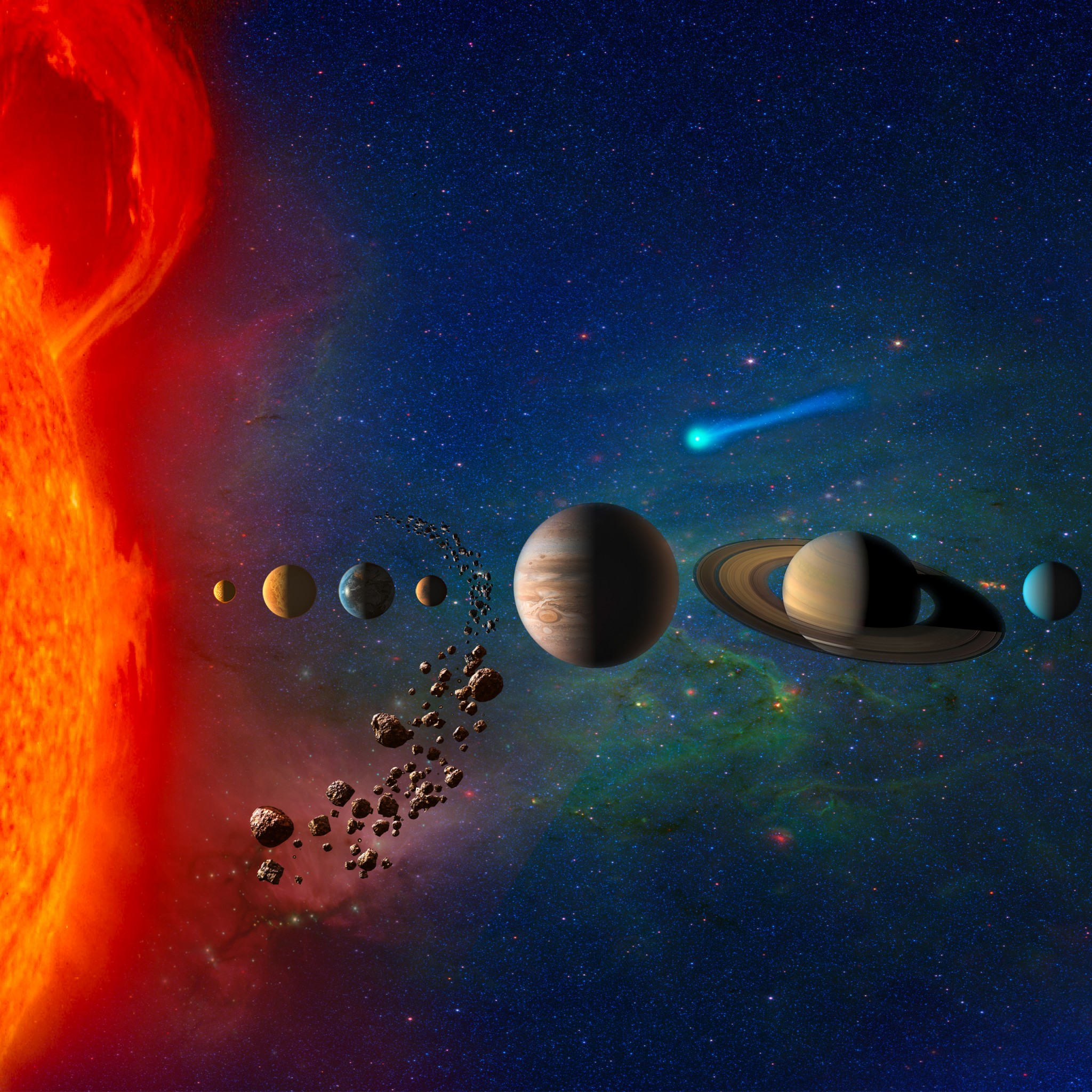 planets in solar system 4k wallpapers