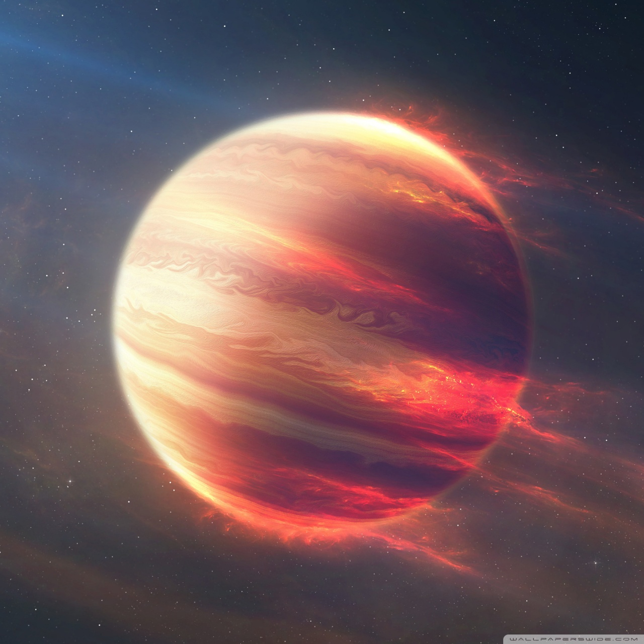 space fire planet wallpapers